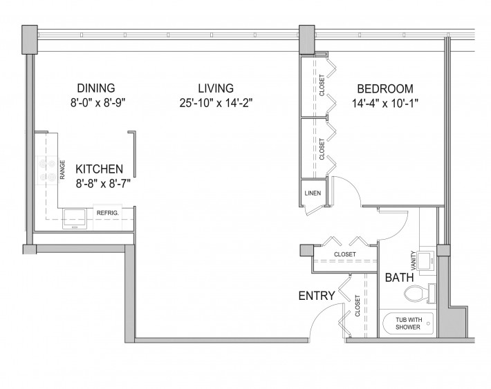 One Bedroom 1C