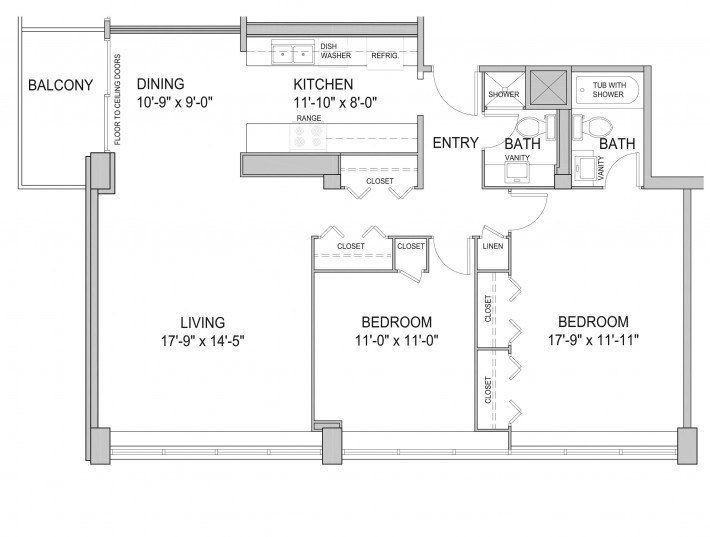 Two Bedroom 2H