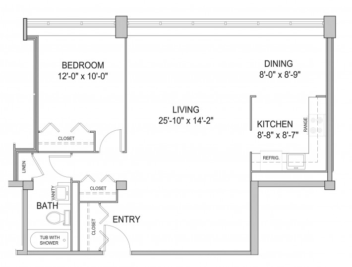 One Bedroom 1B
