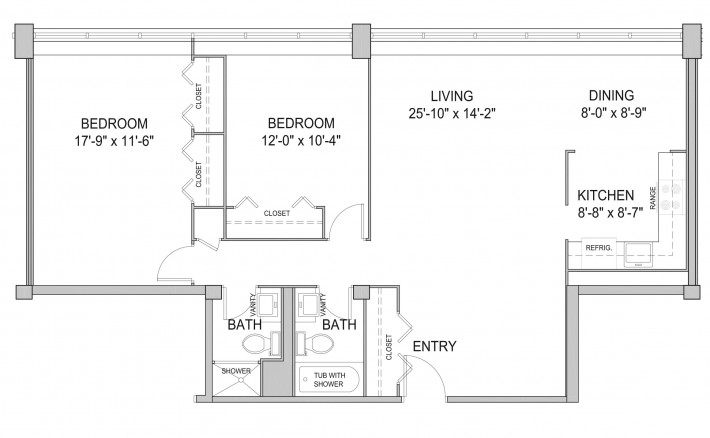Two Bedroom 2B