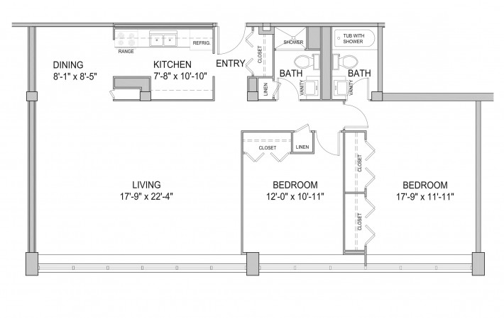 Two Bedroom 2F