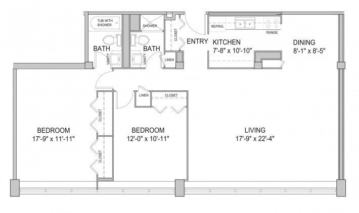Two Bedroom 2G