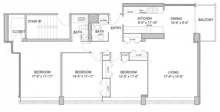 Three Bedroom 3E