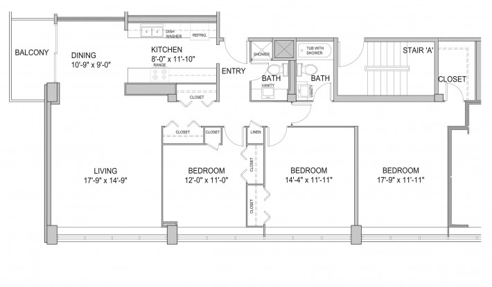 Three Bedroom 3H